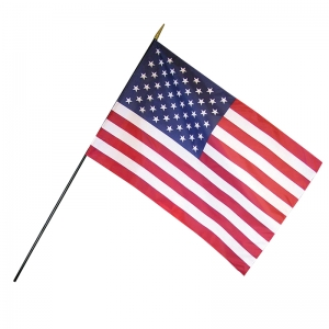 "U.S. Classroom Flag, 12"" x 18"" with Staff"