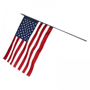 "U.S. Classroom Flag, 16"" x 24"" with Staff"