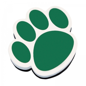 MAGNETIC WHITEBOARD ERASER GREEN  PAW