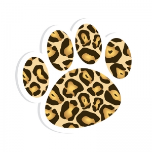 MAGNETIC WHITEBOARD ERASER LEOPARD  PAW