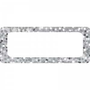 DIE CUT MAGNETS SILVER SPARKLE NAME  PLATES