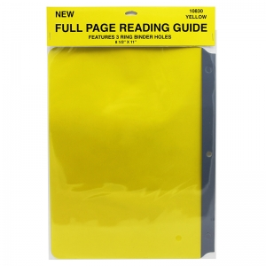 "Full Page Reading Guide, 8.5"" x 11"", Yellow"