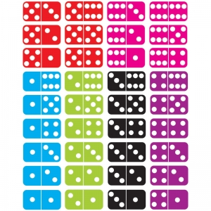 Die-Cut Magnetic Dominoes, 36 Pieces