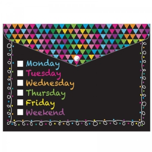 POLY FOLDER CHALK DAYS OF THE WEEK  DECORATED