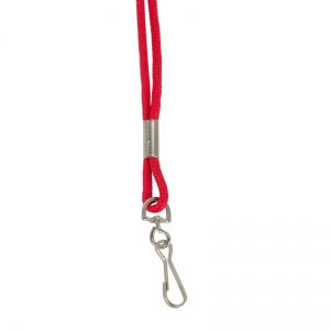 Standard Lanyard Hook Rope Style, Red
