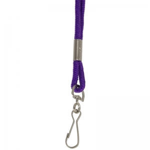 Standard Lanyard Hook Rope Style, Purple