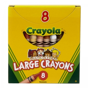 MULTICULTURAL CRAYONS LARGE 8PK