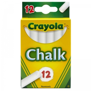 Children's Chalk, White, 12 Count