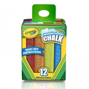 Crayola� Washable Sidewalk Chalk, 12 ct
