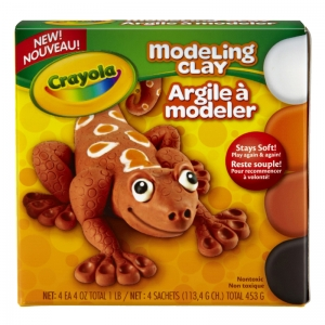Modeling Clay, 1 lb. Assortment, Black/White/Orange/Brown