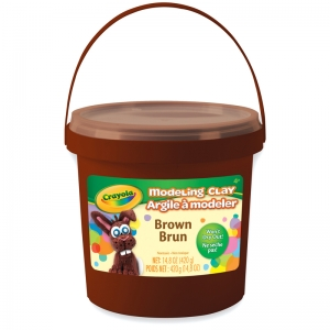 1 lb. Bucket Modeling Clay, Brown