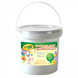 1 lb. Bucket Modeling Clay, White