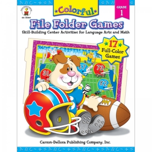 Colorful File Folder Games Resource Book, Grade 1