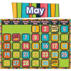 Stylin' Stripes Calendar Bulletin Board Set