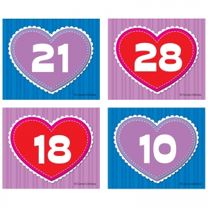 Hearts Calendar Cover-Up Cut-Outs