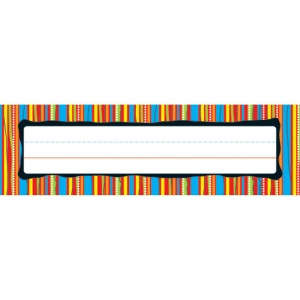 DESKPLATES COLORFUL STRIPES