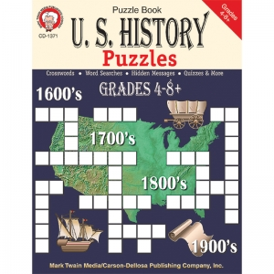 US HISTORY PUZZLES GR 4-8  RESOURCE BOOK