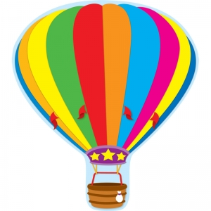 Hot Air Balloon Two-Sided Decorations - Year Round