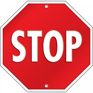 Stop Sign Two-Sided Decoration