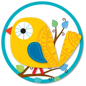 Boho Birds Two Sided Decoration