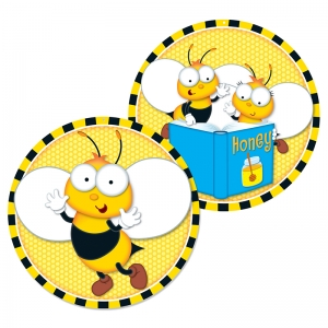 Buzz�Worthy Bees Two-Sided Decorations, Grades PK-5