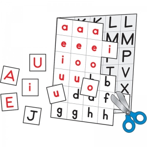 INDIVIDUAL MAKING WORDS 12/SET  CUT-APART LETTER CARDS