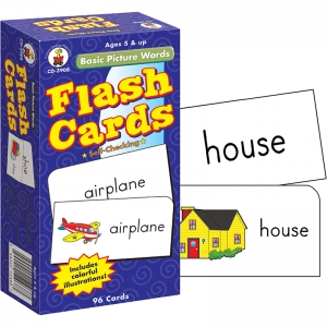 FLASH CARDS BASIC PICTURE WORDS  6 X 3