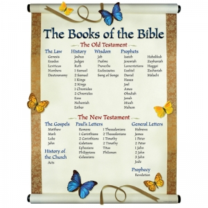 CHARTLET THE BOOKS OF THE BIBLE  17 X 22
