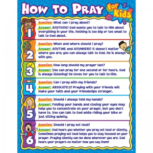 HOW TO PRAY FOR KIDS CHART