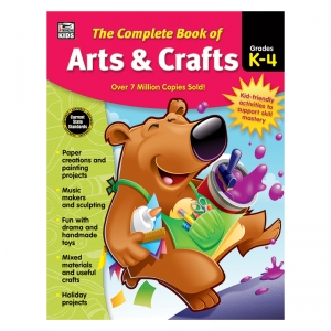 The Complete Book of Arts & Crafts Workbook, Grades K-4