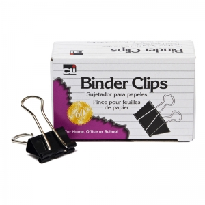MINI BINDER CLIPS 12CT 1/4IN  CAPACITY