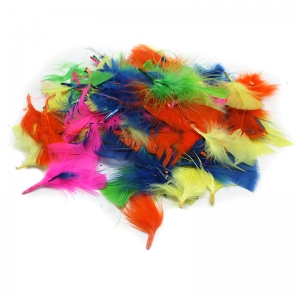 TURKEY FEATHERS HOT COLORS 14G BAG