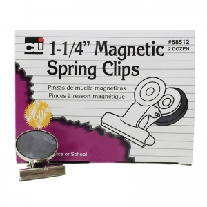 MAGNETIC SPRING CLIPS 1 1/4IN 24BX