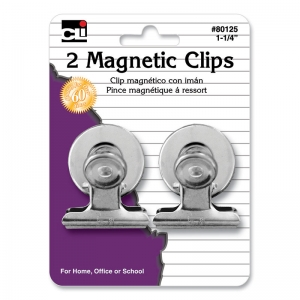 MAGNETIC SPRING CLIPS 1.25IN 2PK