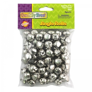 "Jingle Bells, Silver, 5/8"", 72 Count"