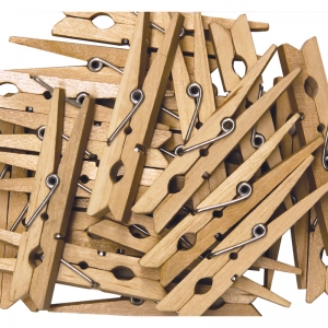 "Spring Clothespins, Natural, Large, 2.75"", 24 Pieces"