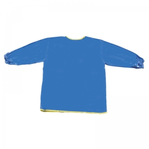 "Long Sleeve Art Smock, Blue, 22"" x 18"", 1 Count"