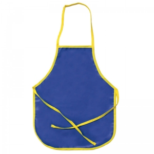 "Vinyl Primary Art Apron, Ages 3+, Blue, 15"" x 18"", 1 Piece"