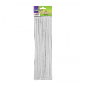 "Regular Stems, White, 12"" x 4 mm, 100 Pieces"