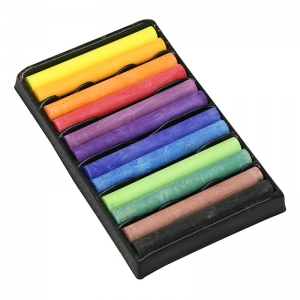 "Drawing Chalk, 12 Assorted Colors, 3"" Long, 12 Pieces"