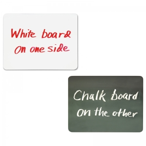 "Combo Board, 2-Sided, Chalk/Whiteboard, 9"" x 12"", 10 Boards"
