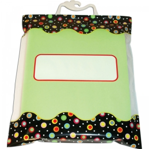 "Dots on Black Storage Bags, 10.5"" x 12.5"", Pack of 6"