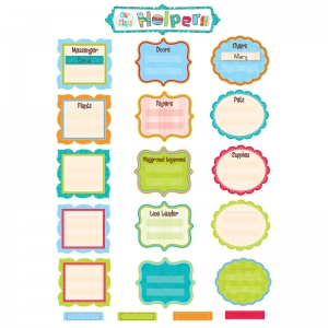 OUR CLASS HELPERS DOTS ON TURQUOISE  MINI BB SET