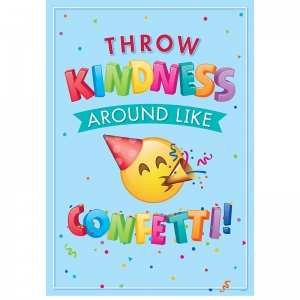 THROW KINDNESS INSPIRE U POSTER  EMOJI FUN