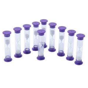 3 Minute Sand Timers, Set of 10