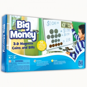 Big Money� Magnetic Coins & Bills, 50/pkg