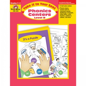 Take It to Your Seat Phonics Centers Book, Level D, Grades 2-3