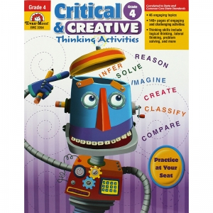 Critical and Creative Thinking Activities Book, Grade 4