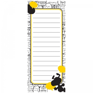 PEANUTS TOUCH OF CLASS NOTE PADS  3.5X8.5 INCH