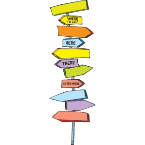 DR SEUSS BLANK DIRECTIONAL SIGNS  MINI BB SET